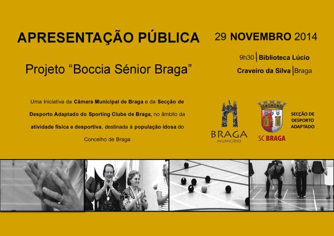 Projeto Boccia Sénior Braga - Apresentação pública