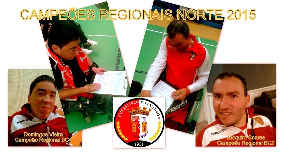 Joaquim Soares e Domingos Vieira - Campeões Regionais Norte - Boccia 2015